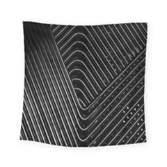 Chrome Abstract Pile Of Chrome Chairs Detail Square Tapestry (small)