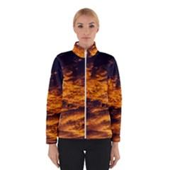 Abstract Orange Black Sunset Clouds Winterwear