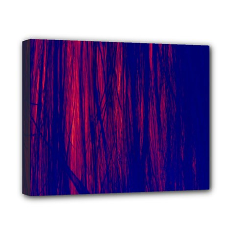 Abstract Color Red Blue Canvas 10  X 8