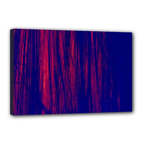 Abstract Color Red Blue Canvas 18  x 12