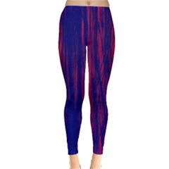 Abstract Color Red Blue Leggings