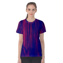 Abstract Color Red Blue Women s Cotton Tee