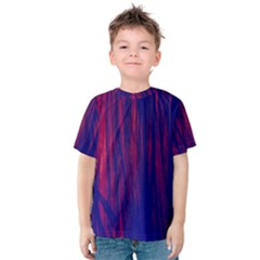 Abstract Color Red Blue Kids  Cotton Tee