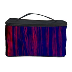 Abstract Color Red Blue Cosmetic Storage Case
