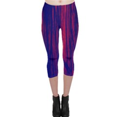 Abstract Color Red Blue Capri Leggings