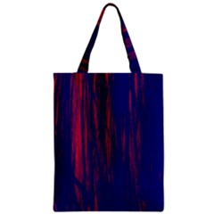 Abstract Color Red Blue Zipper Classic Tote Bag
