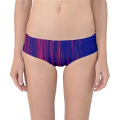 Abstract Color Red Blue Classic Bikini Bottoms