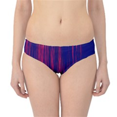 Abstract Color Red Blue Hipster Bikini Bottoms