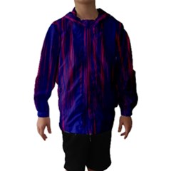 Abstract Color Red Blue Hooded Wind Breaker (kids)