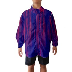 Abstract Color Red Blue Wind Breaker (kids)
