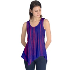 Abstract Color Red Blue Sleeveless Tunic