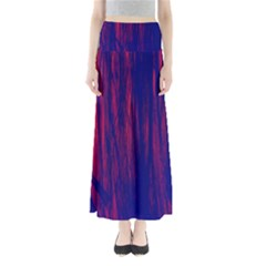 Abstract Color Red Blue Maxi Skirts