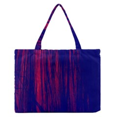 Abstract Color Red Blue Medium Zipper Tote Bag