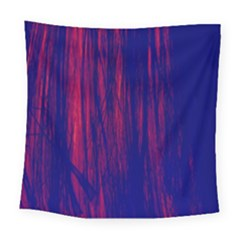 Abstract Color Red Blue Square Tapestry (large)