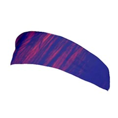 Abstract Color Red Blue Stretchable Headband