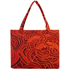 Orange Abstract Background Mini Tote Bag
