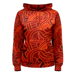 Orange Abstract Background Women s Pullover Hoodie