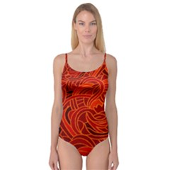 Orange Abstract Background Camisole Leotard