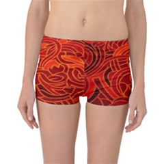 Orange Abstract Background Boyleg Bikini Bottoms