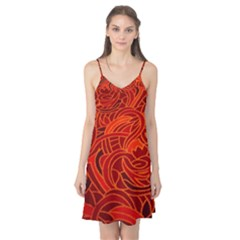 Orange Abstract Background Camis Nightgown