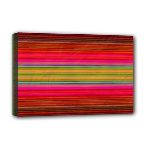 Fiesta Stripe Bright Colorful Neon Stripes Cinco De Mayo Background Deluxe Canvas 18  X 12