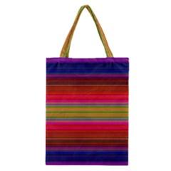 Fiesta Stripe Bright Colorful Neon Stripes Cinco De Mayo Background Classic Tote Bag