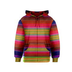 Fiesta Stripe Bright Colorful Neon Stripes Cinco De Mayo Background Kids  Zipper Hoodie
