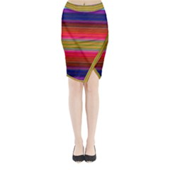 Fiesta Stripe Bright Colorful Neon Stripes Cinco De Mayo Background Midi Wrap Pencil Skirt