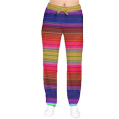 Fiesta Stripe Bright Colorful Neon Stripes Cinco De Mayo Background Drawstring Pants