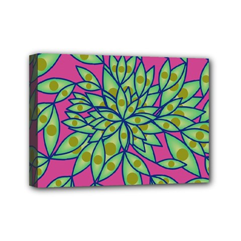 Big Growth Abstract Floral Texture Mini Canvas 7  X 5