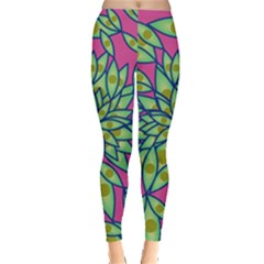 Big Growth Abstract Floral Texture Leggings