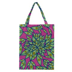 Big Growth Abstract Floral Texture Classic Tote Bag