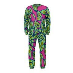 Big Growth Abstract Floral Texture OnePiece Jumpsuit (Kids)
