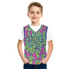 Big Growth Abstract Floral Texture Kids  Sportswear