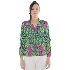 Big Growth Abstract Floral Texture Wind Breaker (women)