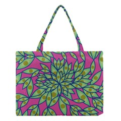 Big Growth Abstract Floral Texture Medium Tote Bag