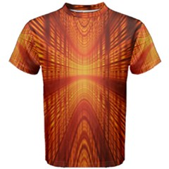 Abstract Wallpaper With Glowing Light Men s Cotton Tee