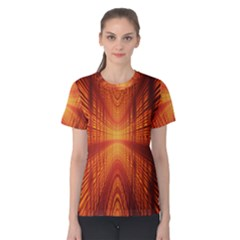 Abstract Wallpaper With Glowing Light Women s Cotton Tee