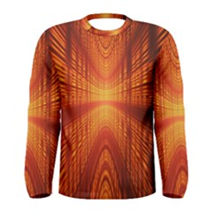 Abstract Wallpaper With Glowing Light Men s Long Sleeve Tee