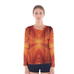 Abstract Wallpaper With Glowing Light Women s Long Sleeve Tee