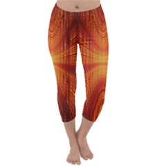 Abstract Wallpaper With Glowing Light Capri Winter Leggings