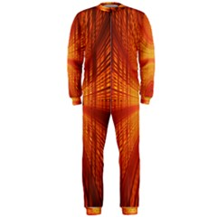 Abstract Wallpaper With Glowing Light OnePiece Jumpsuit (Men)