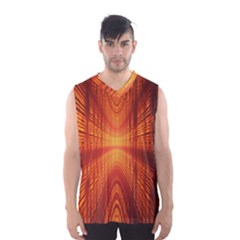 Abstract Wallpaper With Glowing Light Men s Basketball Tank Top