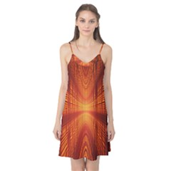 Abstract Wallpaper With Glowing Light Camis Nightgown