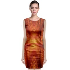 Abstract Wallpaper With Glowing Light Classic Sleeveless Midi Dress