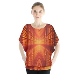 Abstract Wallpaper With Glowing Light Blouse
