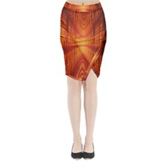 Abstract Wallpaper With Glowing Light Midi Wrap Pencil Skirt
