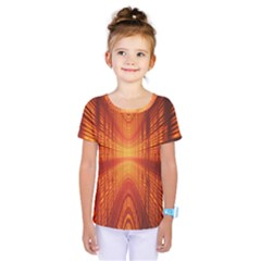 Abstract Wallpaper With Glowing Light Kids  One Piece Tee