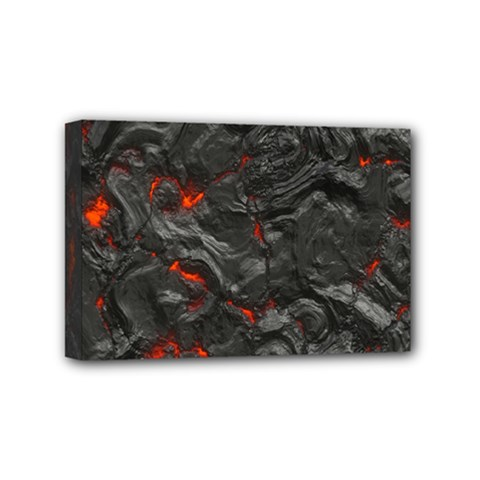 Volcanic Lava Background Effect Mini Canvas 6  X 4