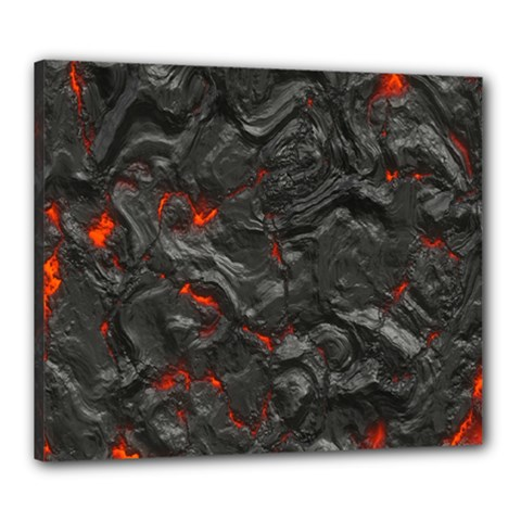 Volcanic Lava Background Effect Canvas 24  X 20
